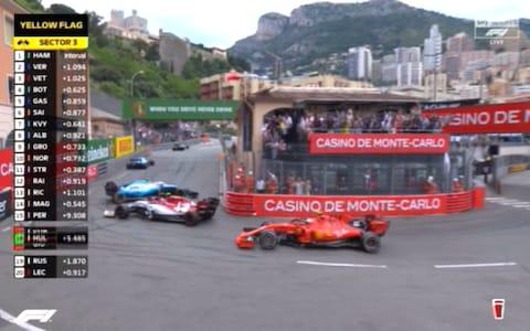 Incident at La Rascasse - Credit: Sky Sports F1
