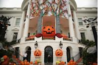 "<p>The White House is decorated for Halloween annually, resulting in holiday displays as extravagant as the House itself. </p><p><strong>BUY</strong>: <a href=""https://www.amazon.com/dp/B07GQFWJVY"" rel=""nofollow noopener"" target=""_blank"" data-ylk=""slk:Inflatable pumpkin"" class=""link rapid-noclick-resp"">Inflatable pumpkin</a> ($160, Amazon) </p>"