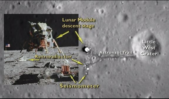 NASA Probe Sees Apollo 11 Moon Landing Site from Space (Video)