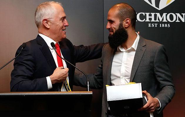 Prime Minister Turnbull (with Houli) has also been slammed for getting involved in the case. Source: Getty