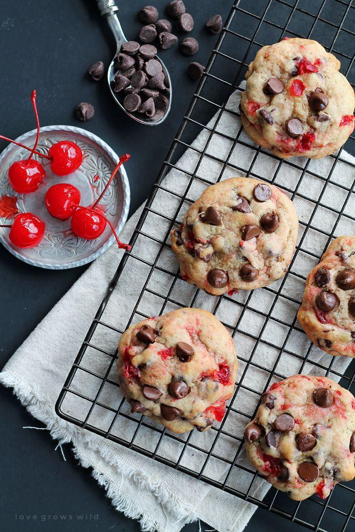 """<p>Cherries are the easy way to switch up basic chocolate chip cookies.</p><p>Get the recipe from <a href=""""http://lovegrowswild.com/2015/02/cherry-chocolate-chip-cookies/"""" rel=""""nofollow noopener"""" target=""""_blank"""" data-ylk=""""slk:Love Grows Wild"""" class=""""link rapid-noclick-resp"""">Love Grows Wild</a>.</p>"""