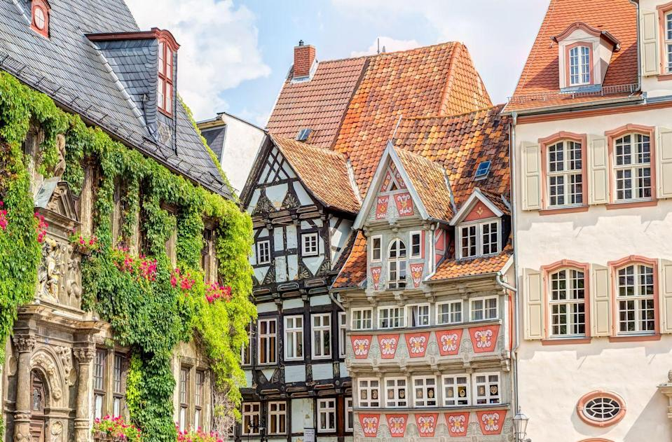 """<p>With fairytale castles, train rides straight out of a Harry Potter film and picturesque nearby villages such as Quedlinburg (pictured), Germany's Harz Mountains are a real treat. You can take in the forests, marvel at the romantic views and see Germany at a slow pace in this spectacular region.</p><p><strong>Good Housekeeping has a five-day rail trip in the Harz Mountains for summer 2021, including a ride on the Brocken steam railway.</strong></p><p><a class=""""link rapid-noclick-resp"""" href=""""https://www.goodhousekeepingholidays.com/tours/germany-harz-mountains-train-wenigerode-rail-tour"""" rel=""""nofollow noopener"""" target=""""_blank"""" data-ylk=""""slk:FIND OUT MORE"""">FIND OUT MORE</a></p>"""
