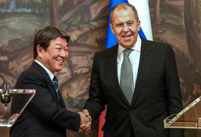 Russian Foreign Minister Sergei Lavrov said talks were 'constructive and substantial' (AFP Photo/Dimitar DILKOFF)