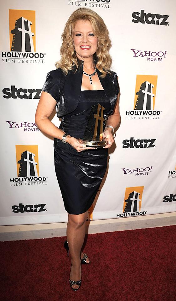"""<a href=""""http://movies.yahoo.com/movie/contributor/1800116992"""">Mary Hart</a> attends the 14th Annual Hollywood Awards Gala at the Beverly Hilton Hotel on October 25, 2010."""