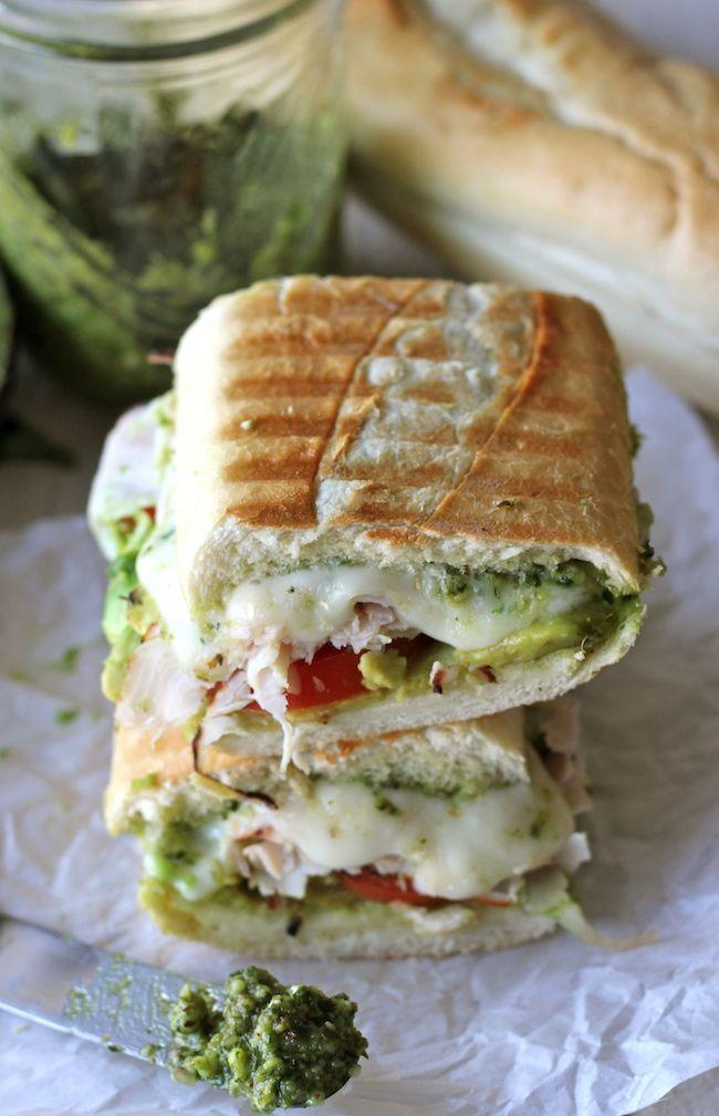 """<p>Try these sandwiches for a speedy way to use up leftover turkey. They'll be ready in under 15 minutes. </p><p><strong>Get the recipe at <a href=""""http://damndelicious.net/2012/11/21/leftover-thanksgiving-turkey-pesto-panini/"""" rel=""""nofollow noopener"""" target=""""_blank"""" data-ylk=""""slk:Damn Delicious"""" class=""""link rapid-noclick-resp"""">Damn Delicious</a>.</strong></p>"""