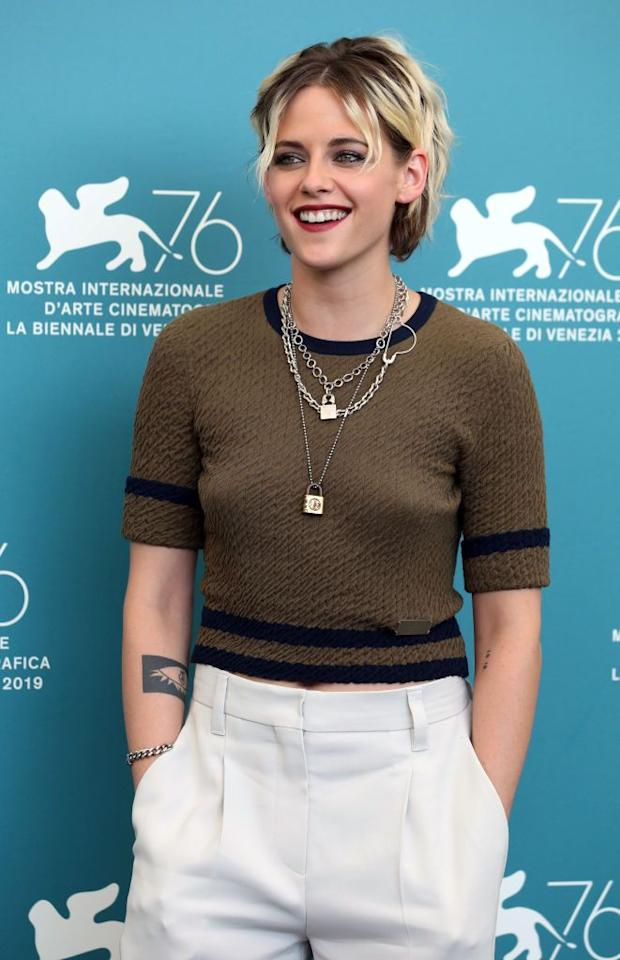 <p>Ombré hair doesn't need to slowly fade — take a page out of <strong>Kristen Stewart</strong>'s book and add a shock of platinum to brown roots. This creates a messy, punk-rock effect.</p>