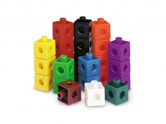 These stackable bricks are an easy way to help aid at-home maths lessons (Learning Resources)