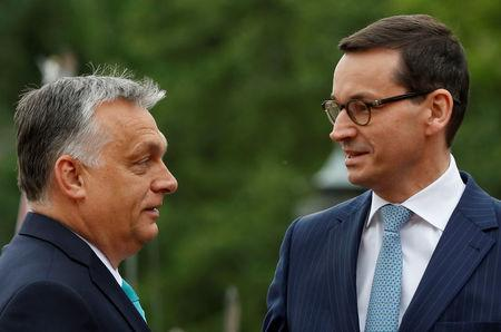 Poland's Prime Minister Morawiecki meets his Hungarian counterpart Orban in Warsaw