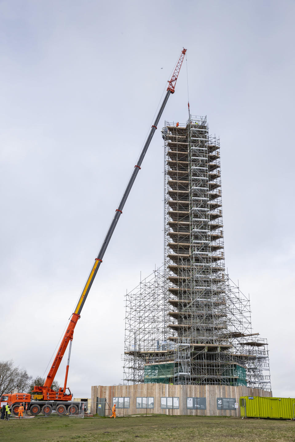 Over 1,500 new stones and eight miles of scaffolding were needed for the £3.1m project (Chris Lacey/National Trust/PA).