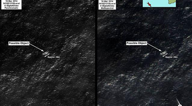 Satellite imagery of the objects spotted. Photo: AMSA