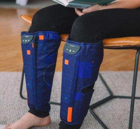 """<h2>Spryng Compression Wrap</h2><br>""""Yes, these look like robot boots — and they kind of are, I guess — but they feel so, so good. <a href=""""https://www.refinery29.com/en-us/normatec-compression-therapy"""" rel=""""nofollow noopener"""" target=""""_blank"""" data-ylk=""""slk:I tried out the NormaTec compression boots"""" class=""""link rapid-noclick-resp"""">I tried out the NormaTec compression boots</a> earlier this year and loved them, but obviously it's not that practical to keep them your home (and the <a href=""""https://www.amazon.com/NormaTec-Recovery-Standard-Compression-Technology/dp/B07RD7L4G1/ref=sr_1_3?ots=1&slotNum=0&imprToken=04bab8ad-ddae-e6a8-679&tag=rf29amazon-20&linkCode=w50"""" rel=""""nofollow noopener"""" target=""""_blank"""" data-ylk=""""slk:price tag is pretty hefty"""" class=""""link rapid-noclick-resp"""">price tag is pretty hefty</a>). These smaller compression wraps by SPRYNG are basically the exact same thing, and they feel just like a massage. Compression therapy is also great for people who sit all day long (me), so I feel like I'm getting a lot out of this pair, especially as I work from home due to COVID."""" <em>— EG</em><br><br><strong>SPRYNG</strong> Compression Wrap, $, available at <a href=""""https://go.skimresources.com/?id=30283X879131&url=https%3A%2F%2Fspryngme.com%2Fproducts%2Fspryng"""" rel=""""nofollow noopener"""" target=""""_blank"""" data-ylk=""""slk:SPRYNG"""" class=""""link rapid-noclick-resp"""">SPRYNG</a>"""