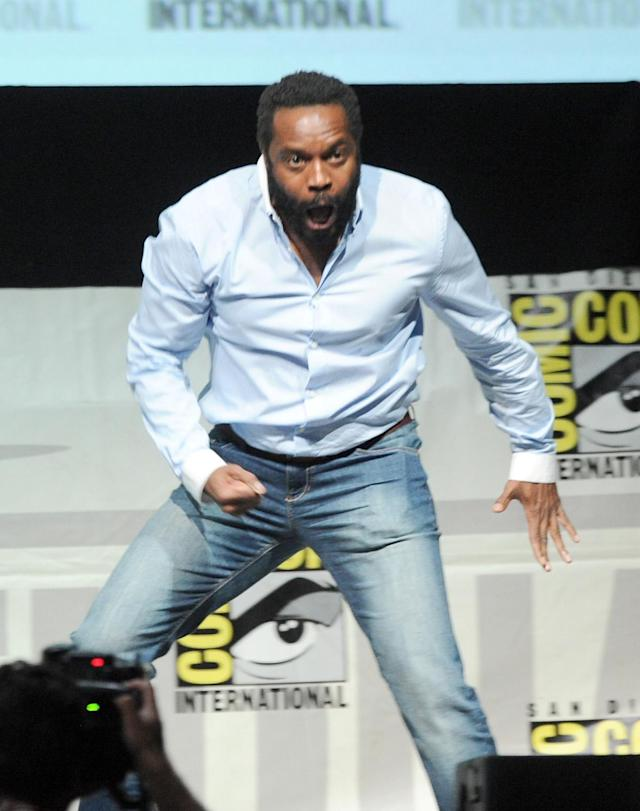 "Chris Coleman speaks onstage at AMC's ""The Walking Dead"" panel during Comic-Con International 2013 at San Diego Convention Center on July 19, 2013 in San Diego, California."