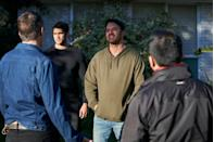 <p>Bad boys Leon and Paul are annoyed that Tane missed his deadline to pay the debt. </p>
