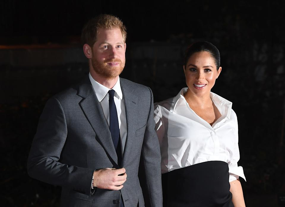 The Duke and Duchess of Sussex arriving at the Endeavour Fund Awards at Draper�s Hall, London. The awards celebrate the achievements of wounded, injured and sick servicemen and women who have taken part in sporting and adventure challenges over the last year.  Picture Credit should read: Doug Peters/EMPICS