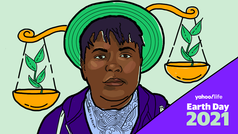 Vic Barrett, an organizer with the Alliance for Climate Education. (Illustration by Nathalie Cruz for Yahoo Life)