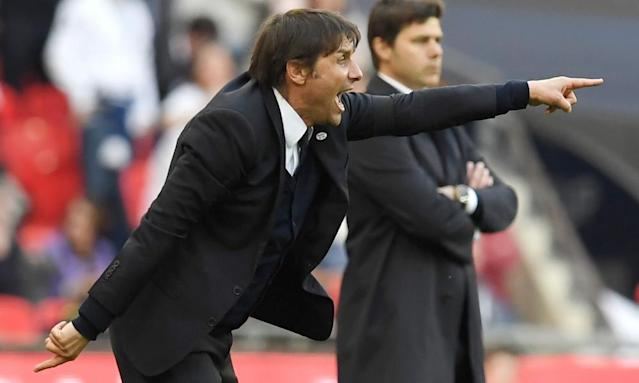 "<span class=""element-image__caption"">Antonio Conte is pointing the way for Chelsea to win the Double in his first season at Stamford Bridge.</span> <span class=""element-image__credit"">Photograph: Chelsea FC/Chelsea FC via Getty Images</span>"
