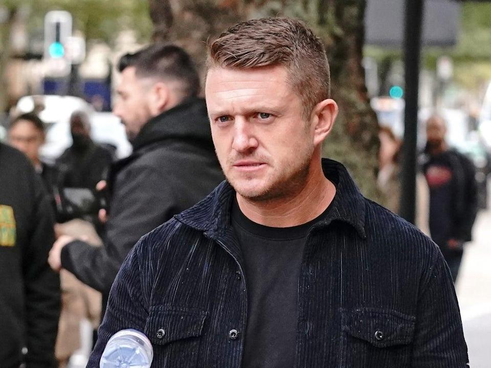 Tommy Robinson has been handed a five-year stalking ban after turning up at the home of an Independent journalist (Jonathan Brady/PA)