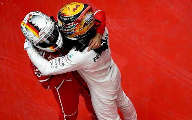 <span>Hamilton and Vettel's relationship is far more amicable nowadays</span> <span>Credit: Rex Features </span>