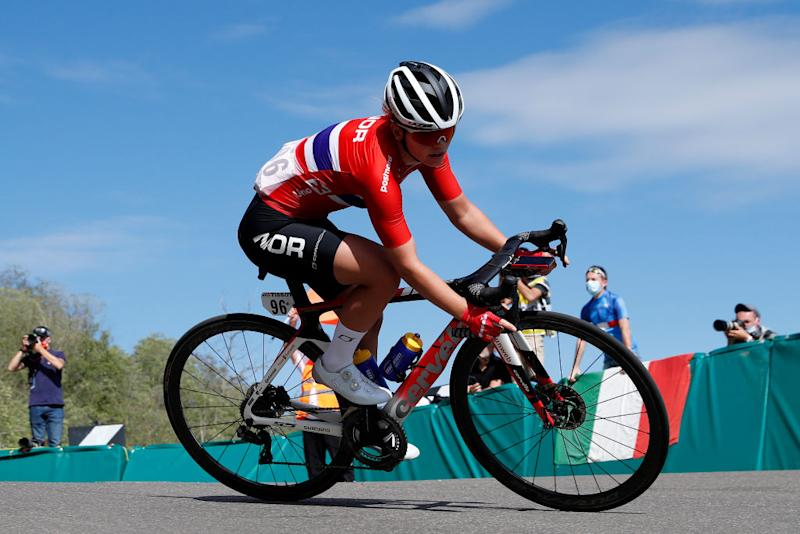 Susanne Andersen (Norway) in the women's road race 2020 UCI Road World Championships
