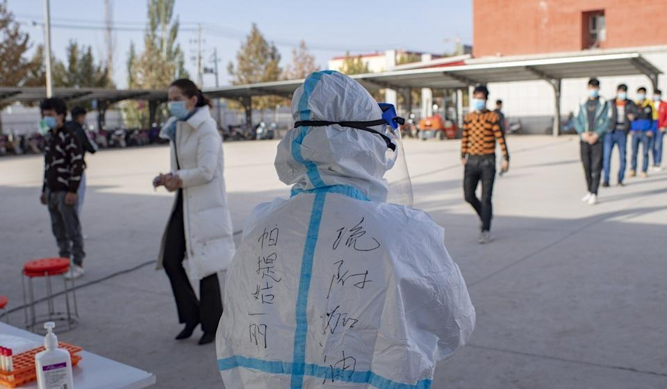 Authorities in Kashgar tested 4.7 million people for Covid-19 in just three days. Photo: Xinhua