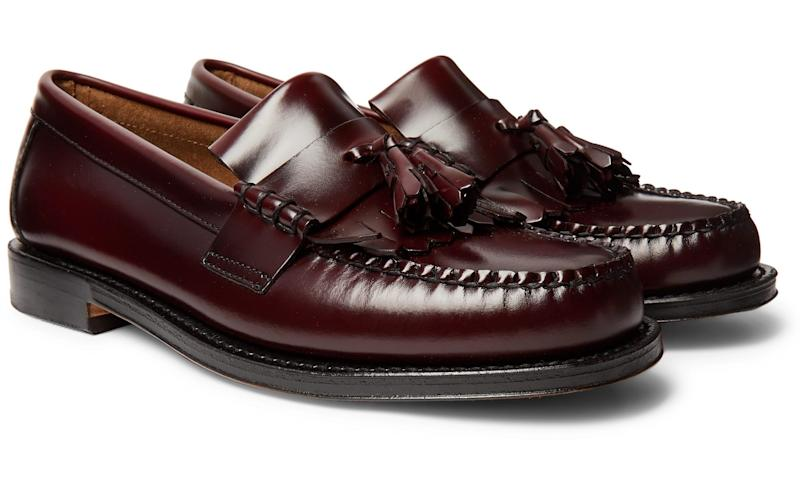 Burgundy loafers, £140, G.H. Bass & Co