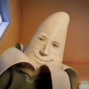 person with a banana head