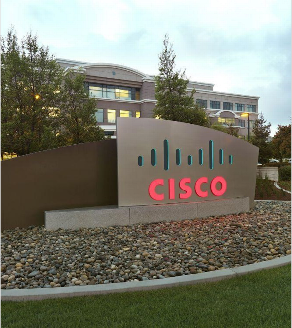 The outside of Cisco's office in Research Triangle Park.