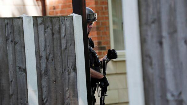 PHOTO: An armed police officer stands outside a residential property near to where a man was arrested in the Chorlton area of Manchester, England, May 23, 2017. (Stefan Wermuth/Reuters)