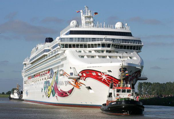 PHOTO: In this file photo taken on June 25, 2005, the cruise liner Norwegian Jewel built at the ship yard Meyer in Papenburg, northern Germany, goes down the river Ems. (Joerg Sarbach/AP)