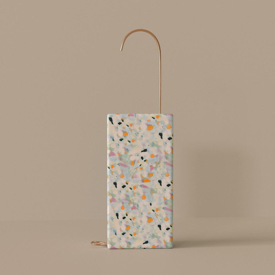 The luxury Step One hand sanitizer dispenser by Sally Reynolds, one of eight winning designs in Bompas & Parr's new