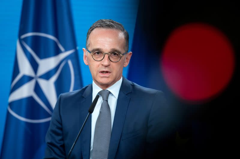 FILE PHOTO: Statement of German Foreign Minister Heiko Maas before NATO meeting