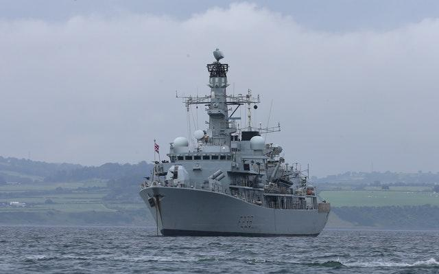 The crew of HMS Northumberland have been forced to isolate due to a Covid-19 outbreak (Niall Carson/PA)