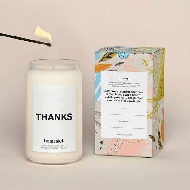 <p>This <span>Thanks Candle</span> ($34) makes a simple but heartwarming statement: an expression of gratitude.</p>