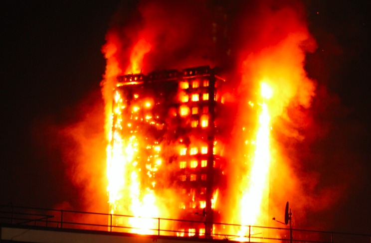 The fire was reported at 1.15am on Wednesday (Picture: Rex)