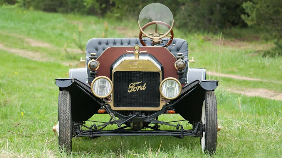<p>Ford Motor Company sold its first Model A on July 23, 1903. By the beginning of October, the company had already turned a profit of $37,000. But it was 1908, the year the Model T launched, when the Blue Oval's legacy as an automaker was really cemented in history. The car was basic, affordable and maintenance was simple for this rugged and durable machine. About 15 million Model T vehicles were built before production ended in May 1927.</p> <p>The Model T was a significant vehicle for Ford for many reasons beyond being the first true hit for the automaker. In 1913, Ford innovated the assembly line process for the T, cutting chassis assembly down from 12 1/2 hours to 1 1/2 hours, which changed the face of automotive manufacturing. By building the T quicker through the integrated moving assembly line, the price tag dropped from $850 to less than $300.</p>