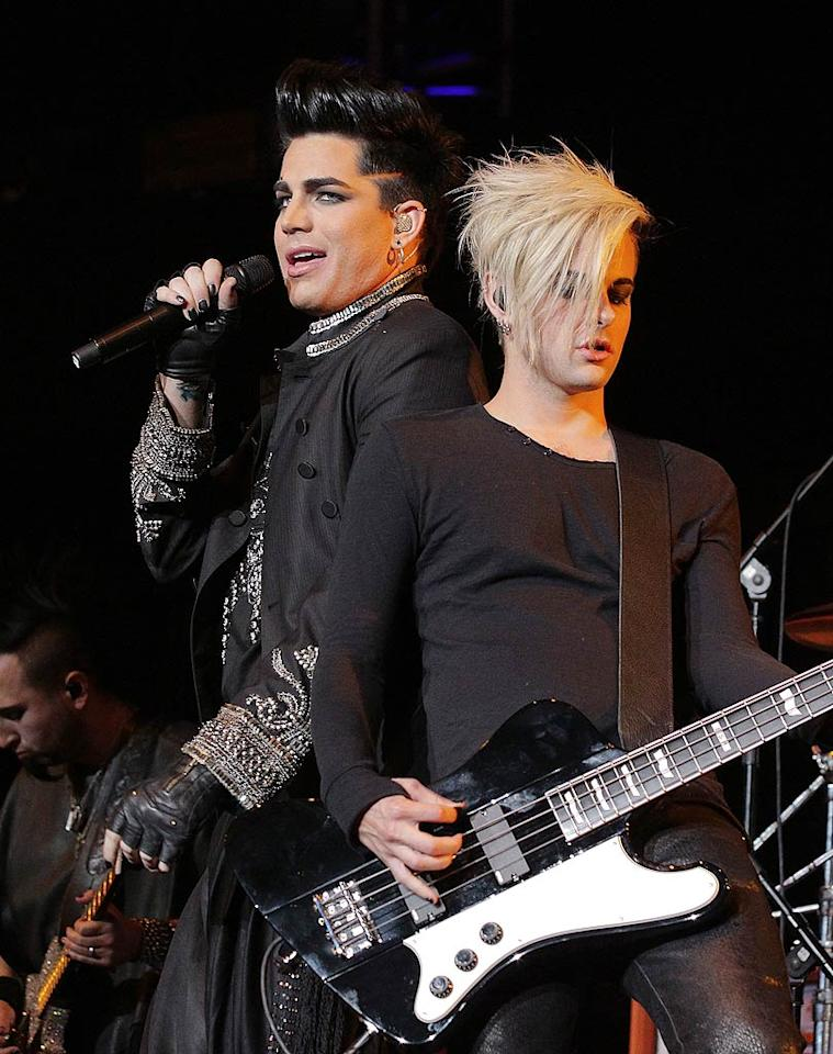 """Last season's """"American Idol"""" runner-up Adam Lambert gave the audience a preview of his summer Glam Nation tour. He also made his pick for this season's """"Idol,"""" who will be crowned later this month: Crystal Bowersox. """"I love her anti-establishment attitude,"""" he told <a href=""""http://www.hollywoodlife.com/2010/05/17/adam-lambert-wants-crystal-bowersox-to-win-american-idol/"""" target=""""new"""">HollywoodLife.com</a>. Noel Vasquez/<a href=""""http://www.wireimage.com"""" target=""""new"""">WireImage.com</a> - May 15, 2010"""