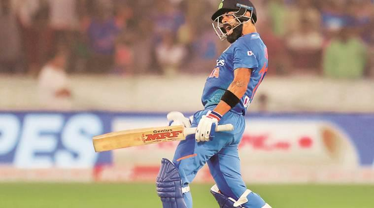 Signature move: Kohli's payback to Williams in Hyderabad has spiced up the series