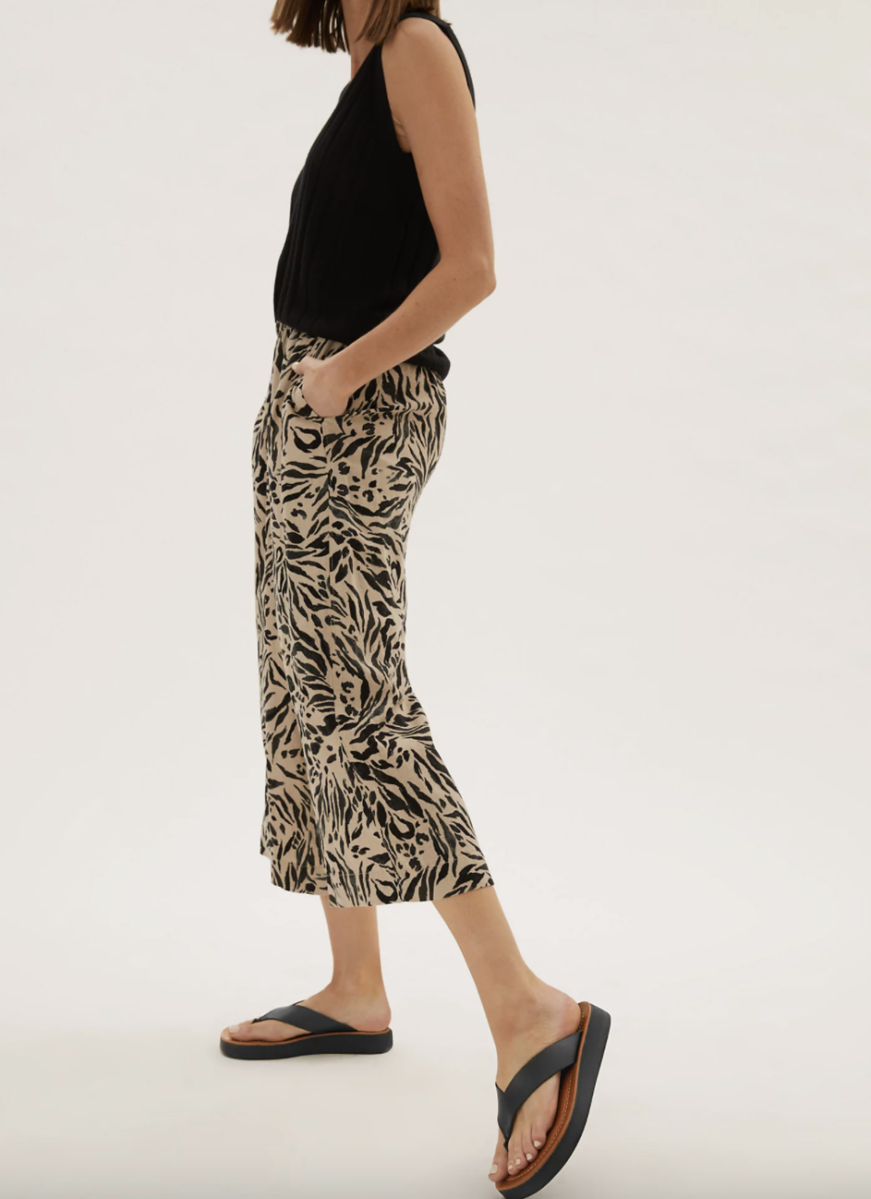 M&S' Flatform Flip Flops can be styled with jeans, shorts, dresses and skirts.  (Marks & Spencer)