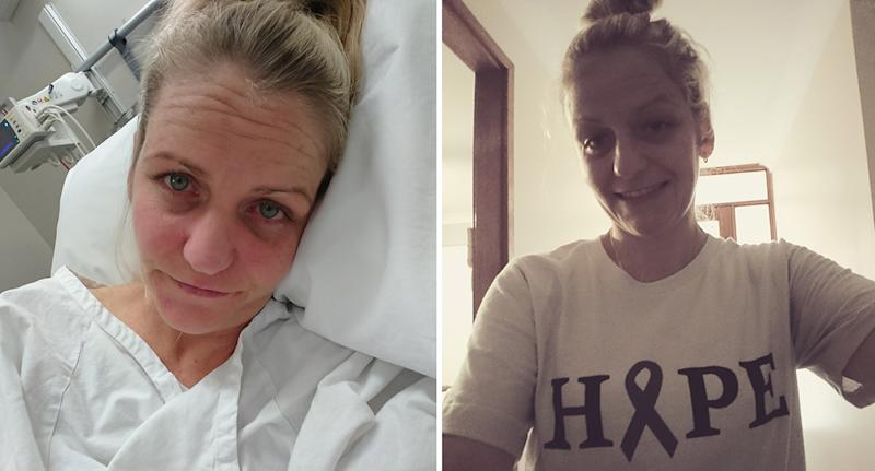 Lake Maccquarie mum Sarah Holden is fundraising for life-saving Charlie Teo surgery to remove a brain tumour.