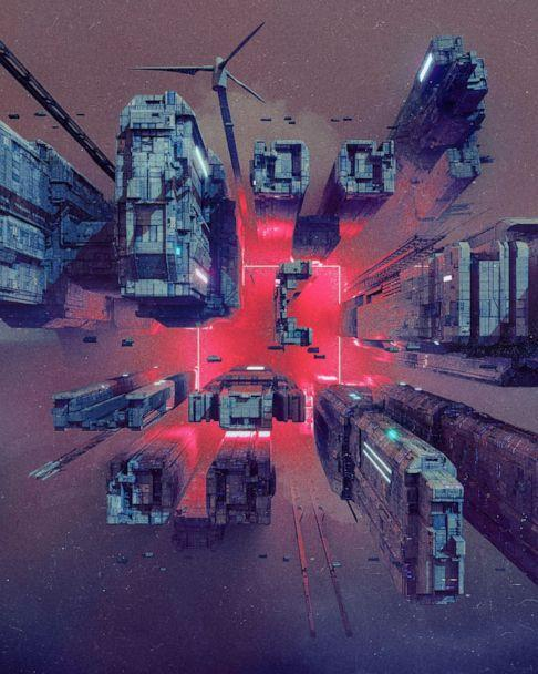 PHOTO: FILE PHOTO: A detail shot from a collage 'EVERYDAYS: THE FIRST 5000 DAYS', by a digital artist BEEPLE, that is on auction at Christie's, unknown location, in this undated handout obtained by Reuters.  (Handout ./via Reuters)