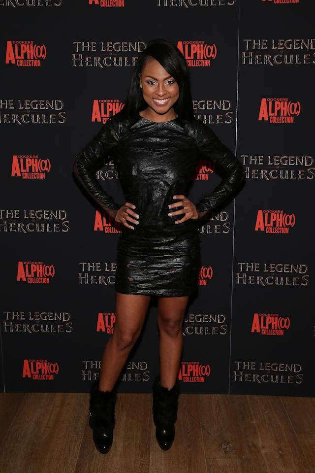 "NEW YORK, NY - JANUARY 06: Tashiana Washington attends the ""The Legend Of Hercules"" premiere at Crosby Street Hotel on January 6, 2014 in New York City. (Photo by Neilson Barnard/Getty Images)"