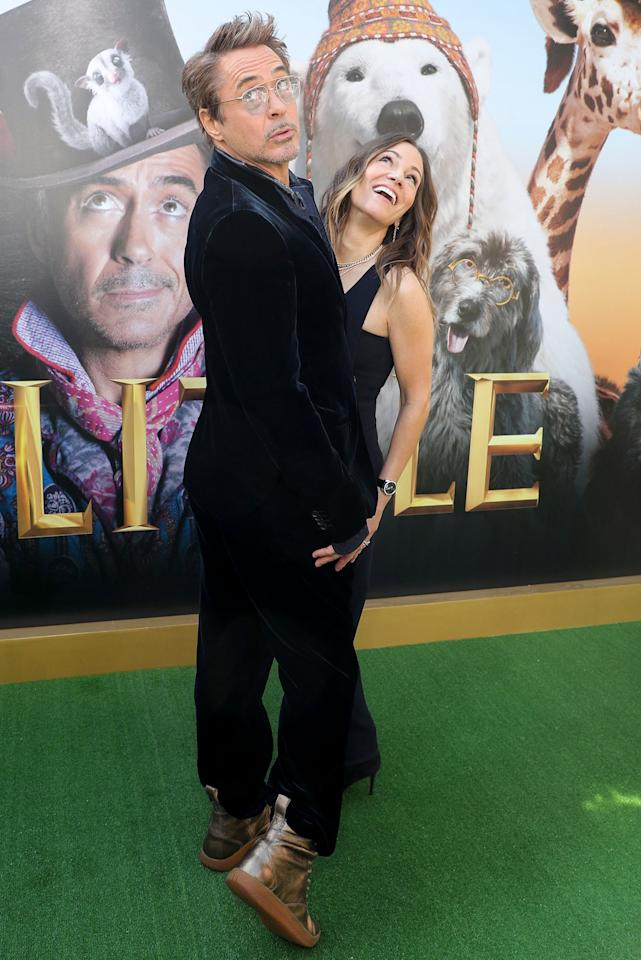Robert Downey Jr. and his wife Susan also celebrate the premiere of <em>Doolittle</em> in Los Angeles on Saturday.