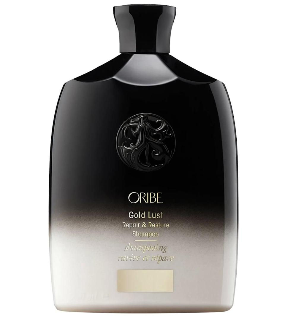 <p>Dry hair and scalp are no match for the moisturizing <span>Oribe Gold Lust Repair &amp; Restore Shampoo</span> ($49). It features a special restorative complex made from biotin, niacinamide, plant collagen, and caffeine to nourish and strengthen the hair from the inside out.</p>