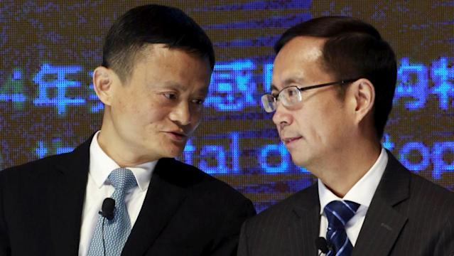 Alibaba Chairman Jack Ma and CEO Daniel Zhang. (Reuters)