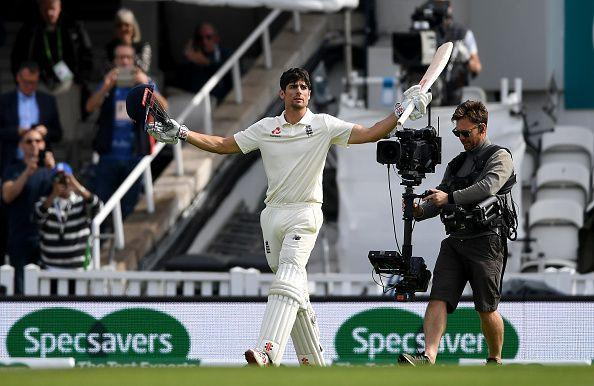 Alastair Cook scored 71 and 147 in his final Test