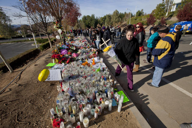 Tributes are left to Paul Walker in Valencia, California (Credit: Ted Soqui/Corbis via Getty Images)