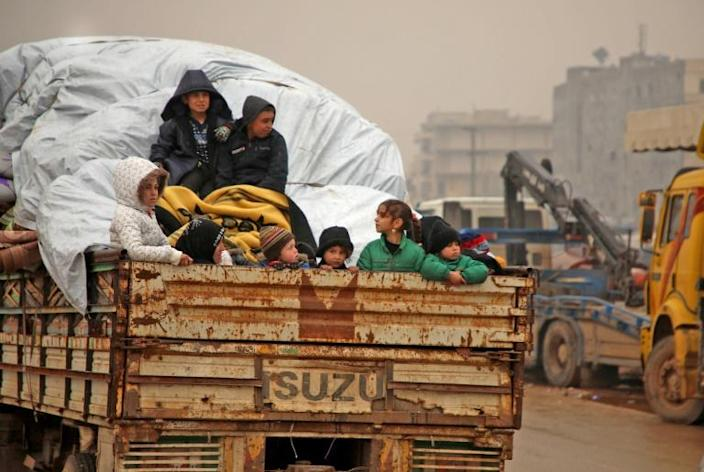 More than half a million Syrian civilians have fled their homes in the past two months in the face of a blistering government assault on Syria's last major rebel bastion (AFP Photo/AAREF WATAD)