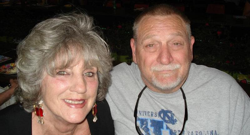 There is a portrait of 67-year-old Johnny Lee Peoples and his wife 65-year-old Darlene.