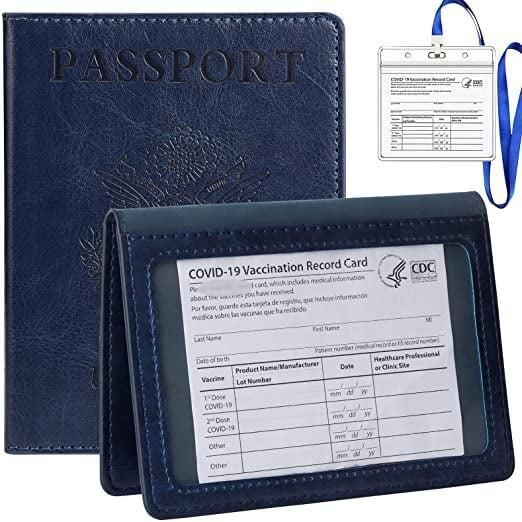 <p>My mom loves navy (and matching) so I picked out this <span>Tigari Passport Cover and Vaccine Card Holder Combo in Dark Blue</span> ($10) which is close to the U.S. passport's actual color.</p>