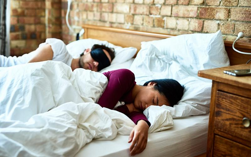 Between seven and a half and eight hours sleep is ideal, the study says - Digital Vision